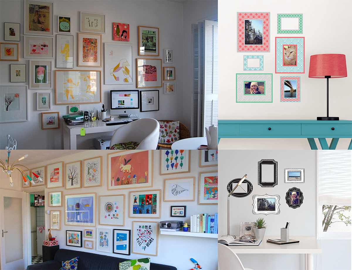 sample gallery wall