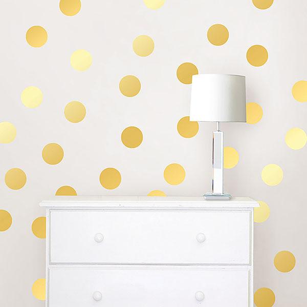 Gold Confetti Wall Dots