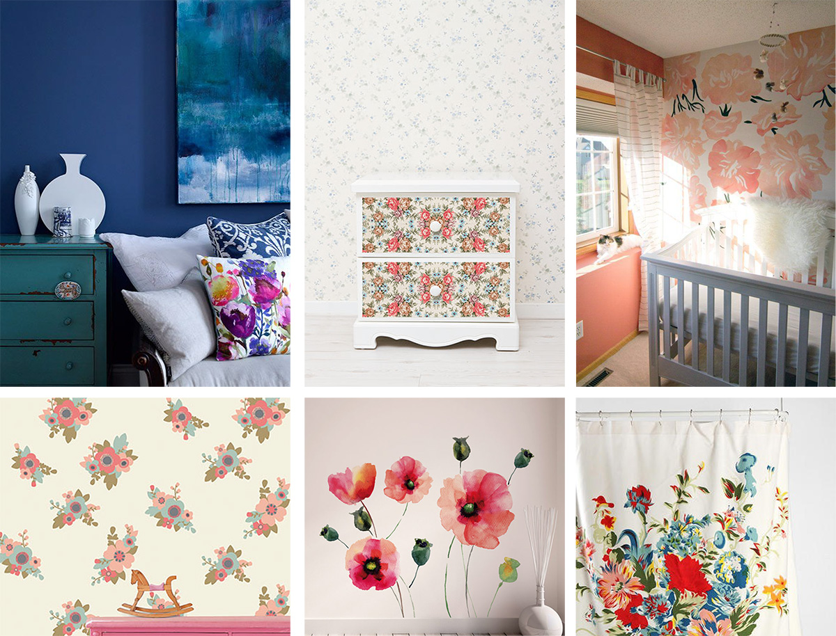 floral home decor trends