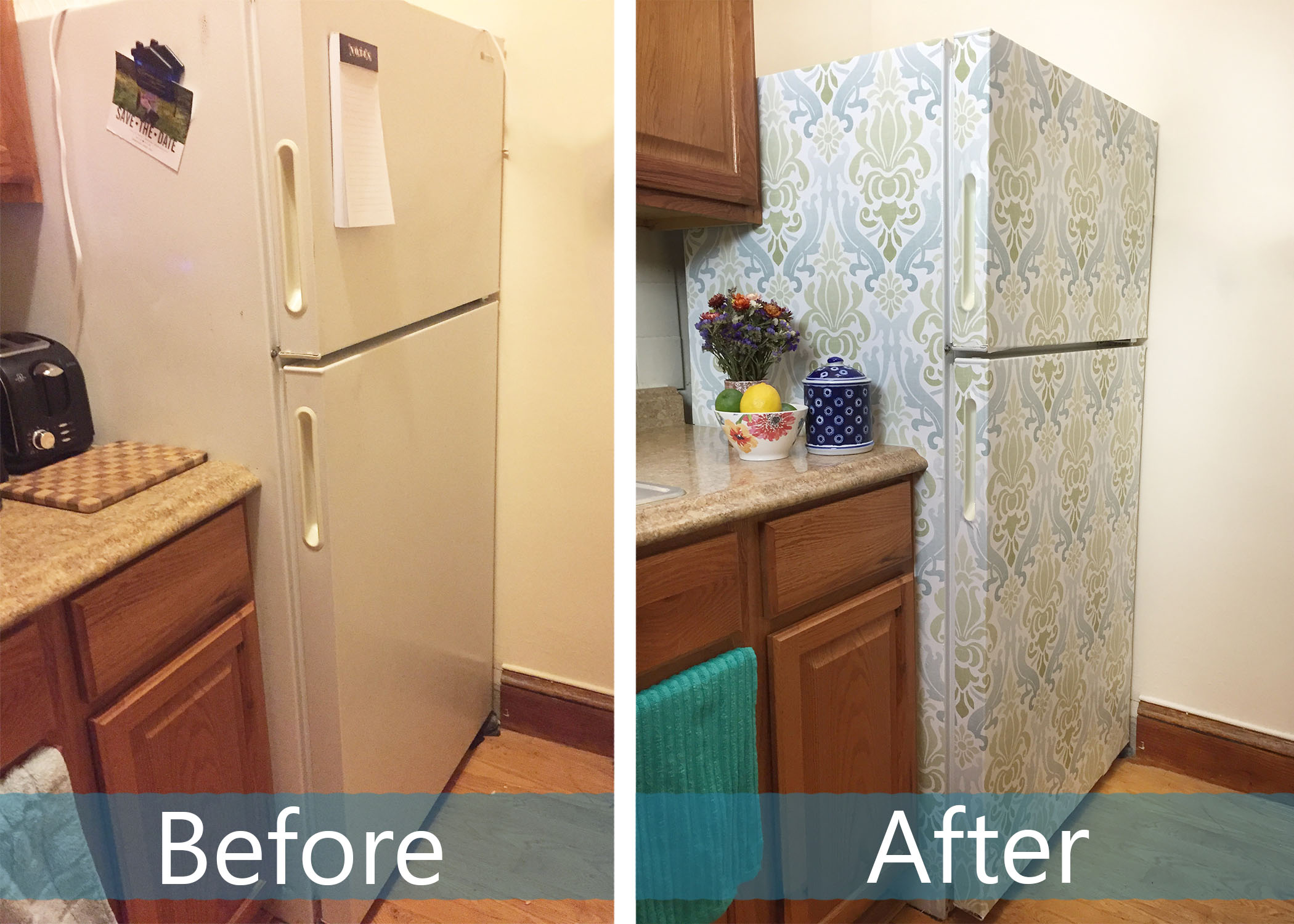 Fridge Before and After