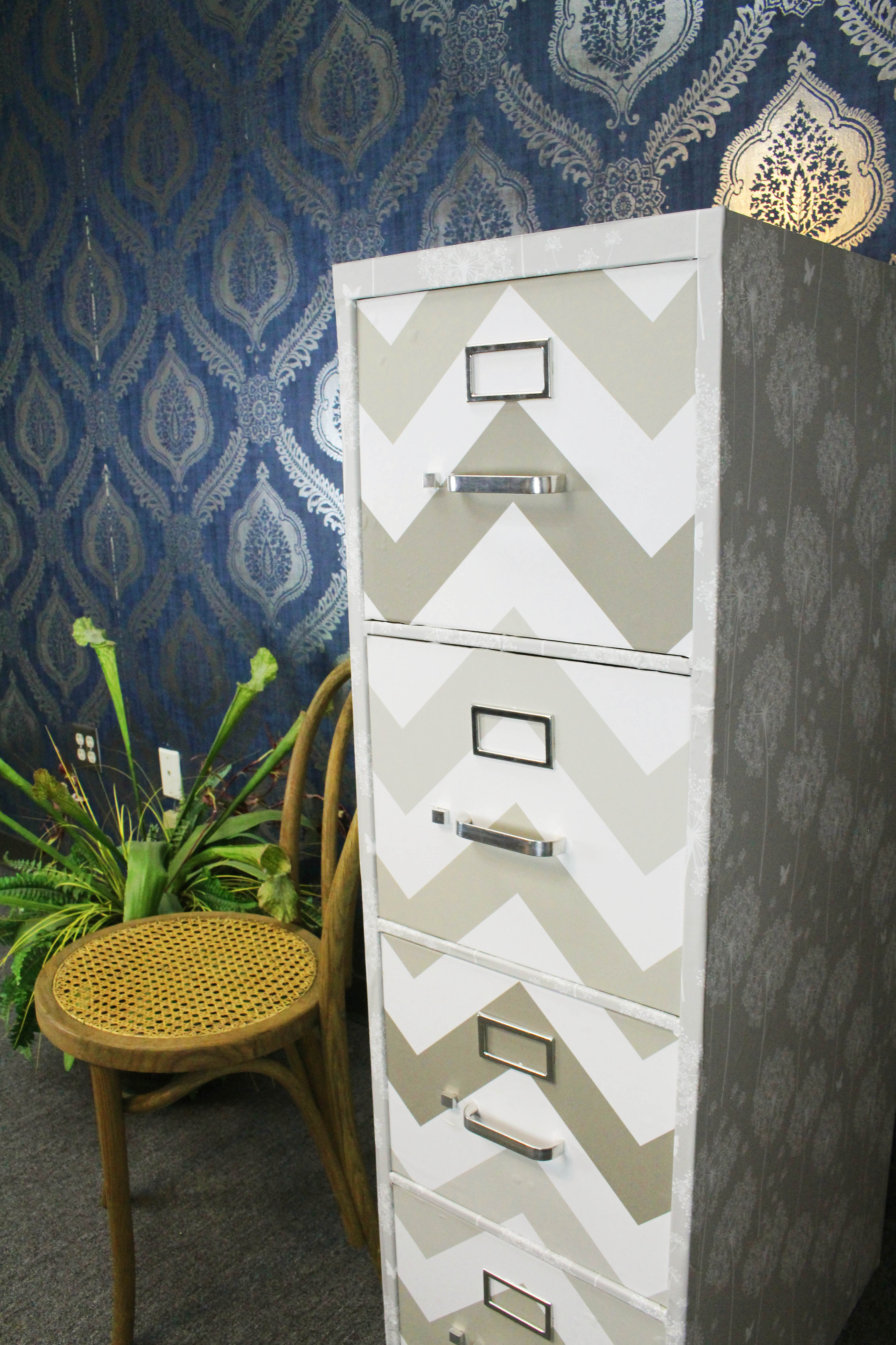 Stylish Filing Cabinet Makeover
