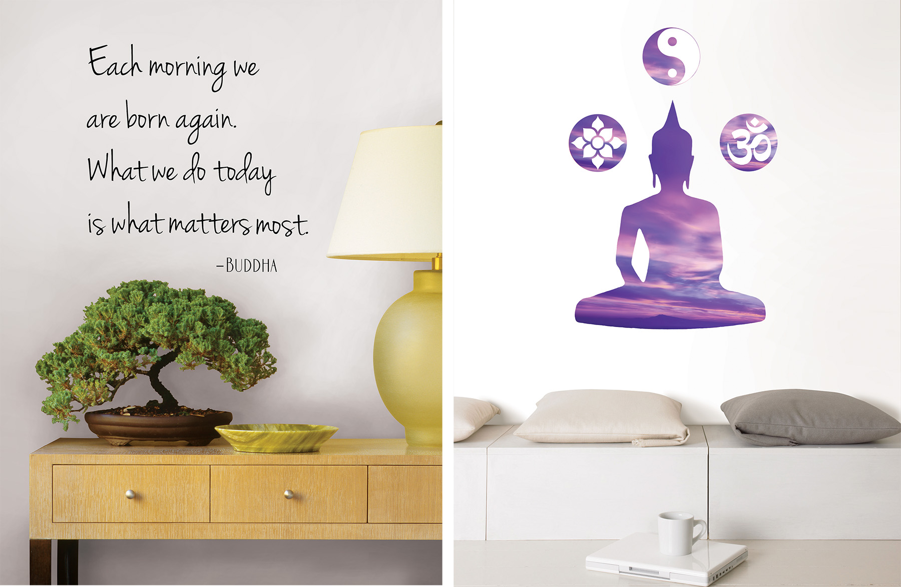 zen wall quotes and decals
