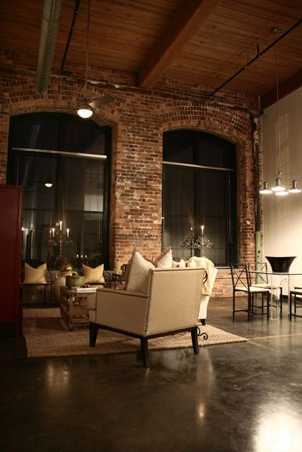 Loft in Greenville with cozy furniture and high ceilings/windows