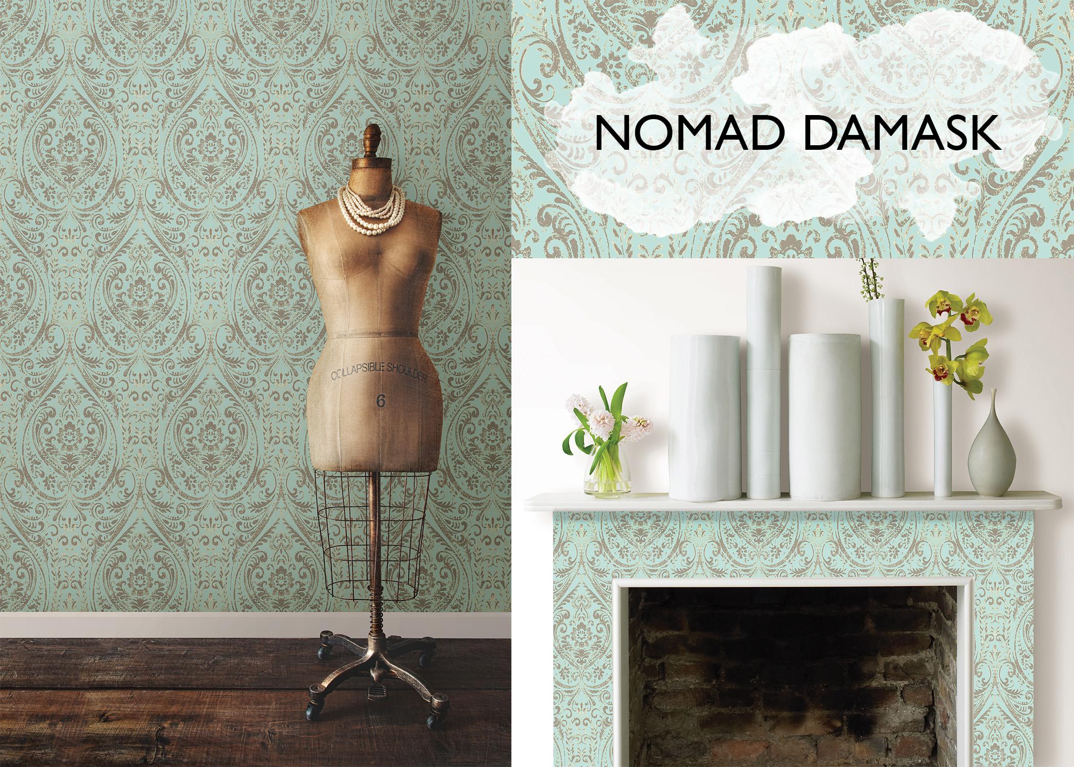Nomad Damask NuWallpaper