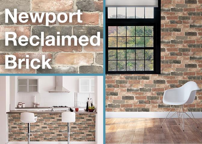Newport Reclaimed Brick NuWallpaper