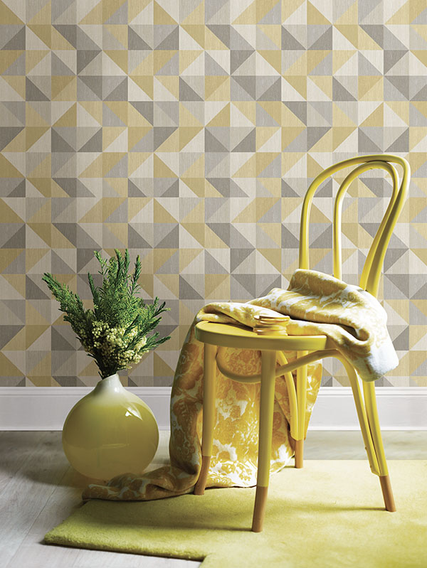 geometric wood peel and stick wallpaper