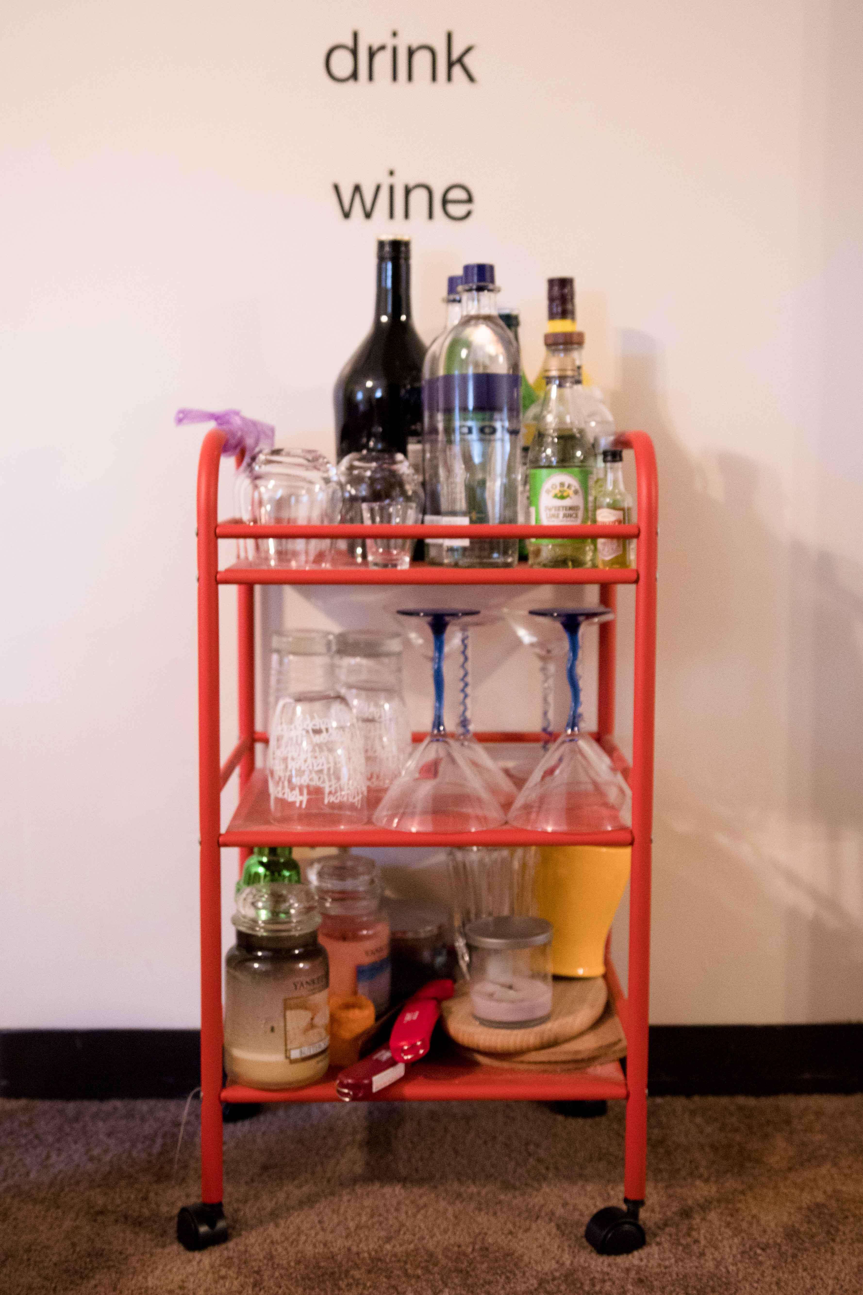 red bar cart
