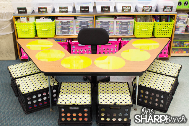 Learning corner made with dry erase decals