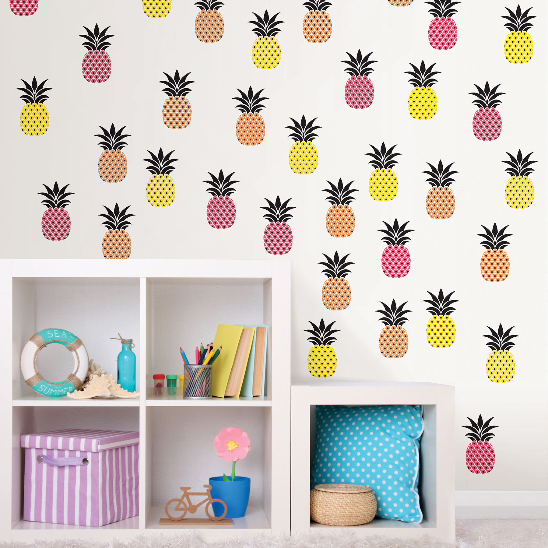 small pineapple wall decals