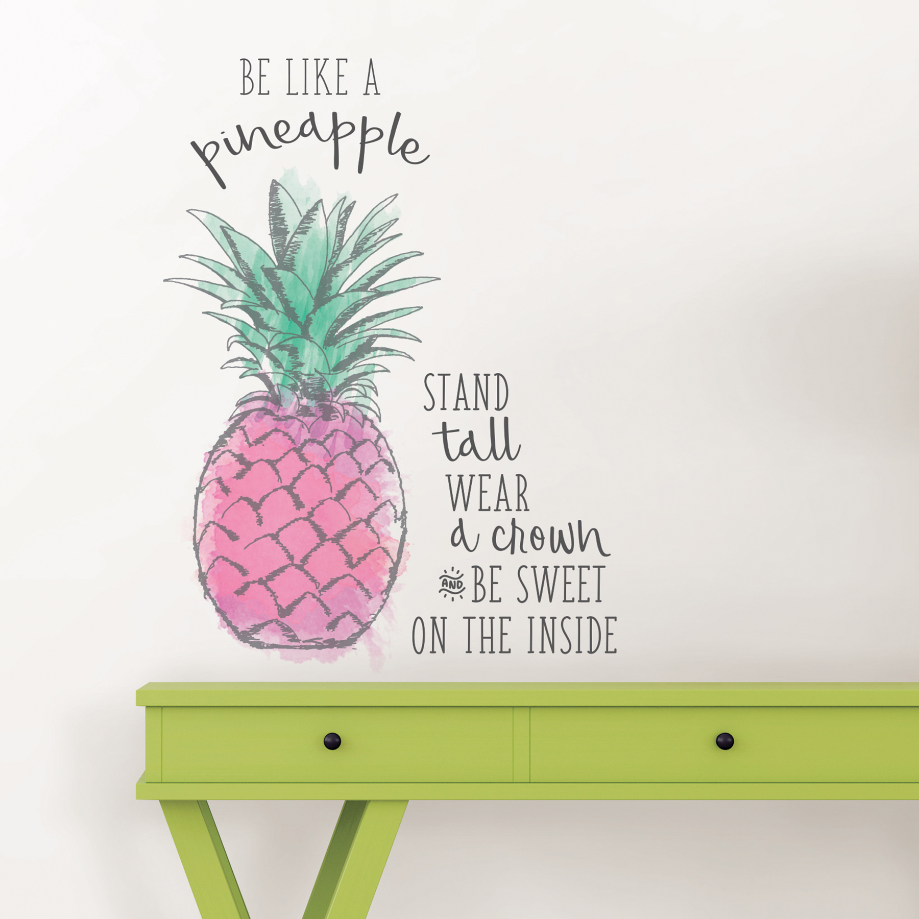 pineapple wall quote decal