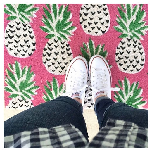 pink pineapple doormat