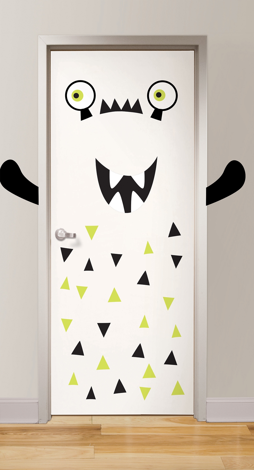 monster door decal